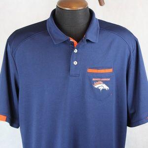 NFL Team Apparel TX3 Cool Denver Broncos Polo